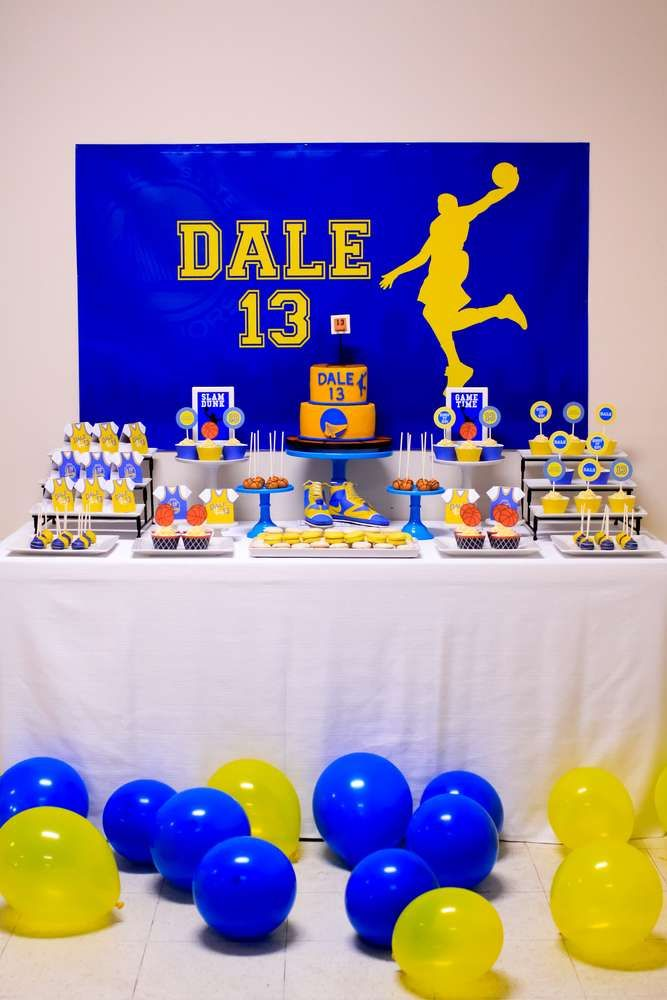 Basketball Birthday Party | CatchMyParty.com