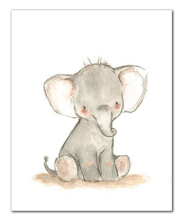 This Little Elephant Print by trafalgar's square is perfect! #zulilyfinds