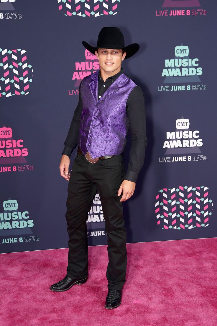 WORST: Bonner Bolton definitely stood out from the crowd -- in a bad way -- in a shimmery purple vest. (Photo by Sara Kauss/FilmMagic)  via @AOL_Lifestyle Read more: http://www.aol.com/article/2016/06/09/viewers-unimpressed-by-the-lack-of-country-music-at-the-cmt-awar/21392229/?a_dgi=aolshare_pinterest#fullscreen