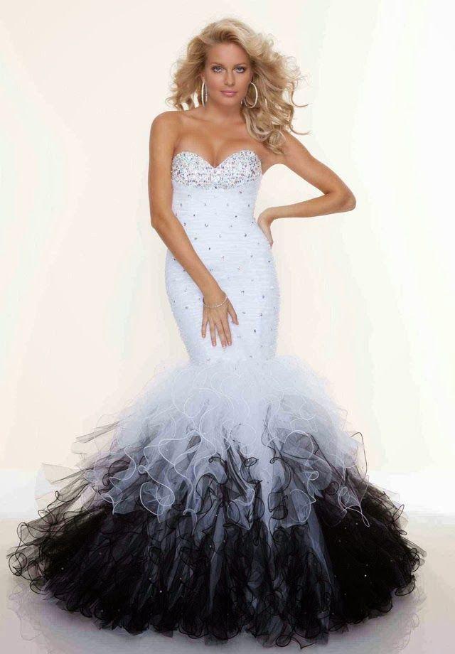 I Meeeeeeaaaaaaannnnnnnreally Though Dope Mermaid Trumpet Wedding Dress Black DressesWhite