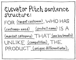 Elevator Pitch Sentence Structure The Elevator Pitch