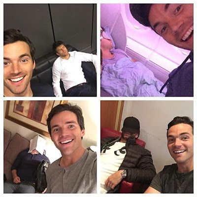 Ian Harding constantly photobombing Keegan Allen while he's sleeping :) friendship goals, pretty little liars, pll