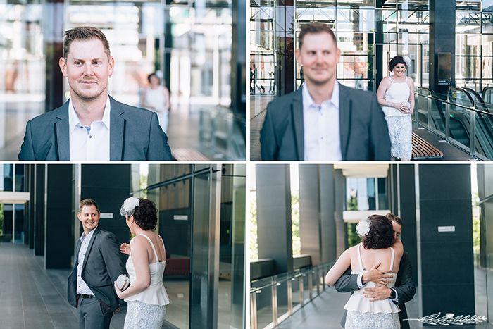 Real Wedding: Aleya & Daniel / Registry Office / City Wedding / Perth Wedding / First Look