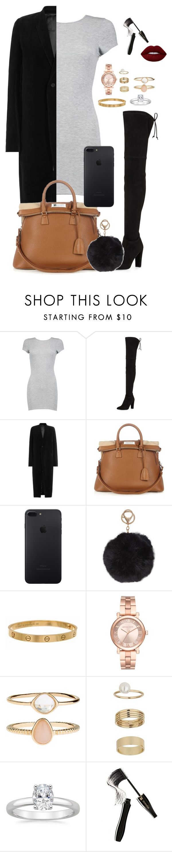 """Sem título #889"" by sr-magcult-bieber-gomez ❤ liked on Polyvore featuring Boohoo, Stuart Weitzman, Rick Owens, Maison Margiela, Humble Chic, Cartier, Michael Kors, Accessorize, Miss Selfridge and Lancôme"