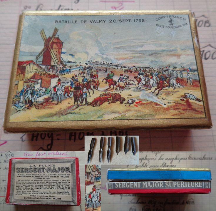 Plumes Sergent Major Ancienne Boite Bataille de Valmy 1792 Blanzy Baignol Farjon | Collections, Ecriture, dessin, Plumes | eBay!