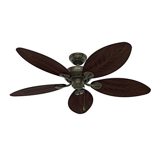 Hunter 54098 Bayview 54-inch ETL Damp Listed, Provencal Gold Ceiling Fan with Five Antique Dark Wicker/Antique Dark Palm Leaf Plastic Blades    Fan Ceiling  Unique Ceiling Fans  Fancy Ceiling Fans  Outside Ceiling Fans  Remote Control Ceiling Fans  Kids Ceiling Fans  Ceiling Fan Remote Control  Exterior Ceiling Fans  Fan Light  3 Blade Ceiling Fan  Modern Ceiling Fans With Lights  Indoor Ceiling Fans  Ceiling Fan Switch