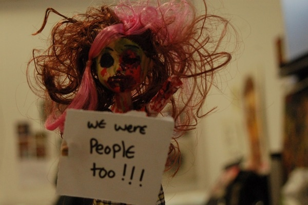 zombie doll protest