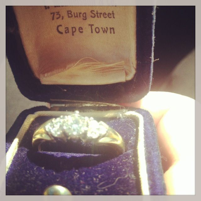 Engagement ring in pretty box
