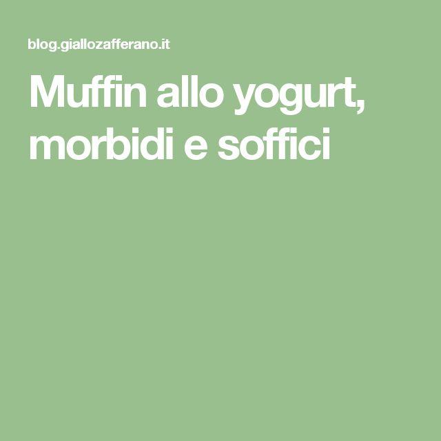 Muffin allo yogurt, morbidi e soffici