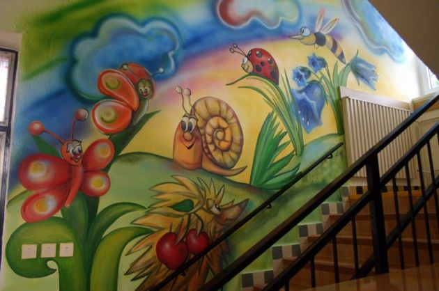 www.elakaras.eu dekorační malba na stěnu