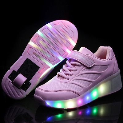 2016 Children's Shoes kids Roller Shoes With Light Girls Boys LED Light  Shoes Kids Skate Sneakers With Wheels