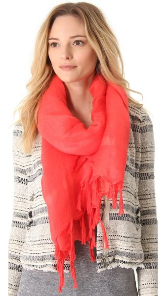 @Judy Ly...I found our coral scarf obsession!  Love Quotes Knotted Tassel Scarf
