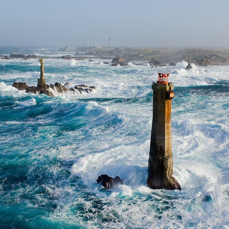 Lighthouses of Iroise. Le Phare du Nividic Finistère in Brittany. #Bretagne ! #france