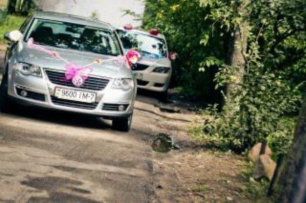 carros de casamento Foto gratuita