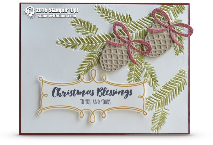 SNEAK PEEK: Christmas Blessings from Christmas Pines | Stampin Up Demonstrator - Tami White - Stamp With Tami Crafting and Card-Making Stampin Up blog