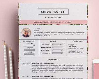 resume template 3 page pack cv template cover by resumegalleria - Fashion Design Resume Template