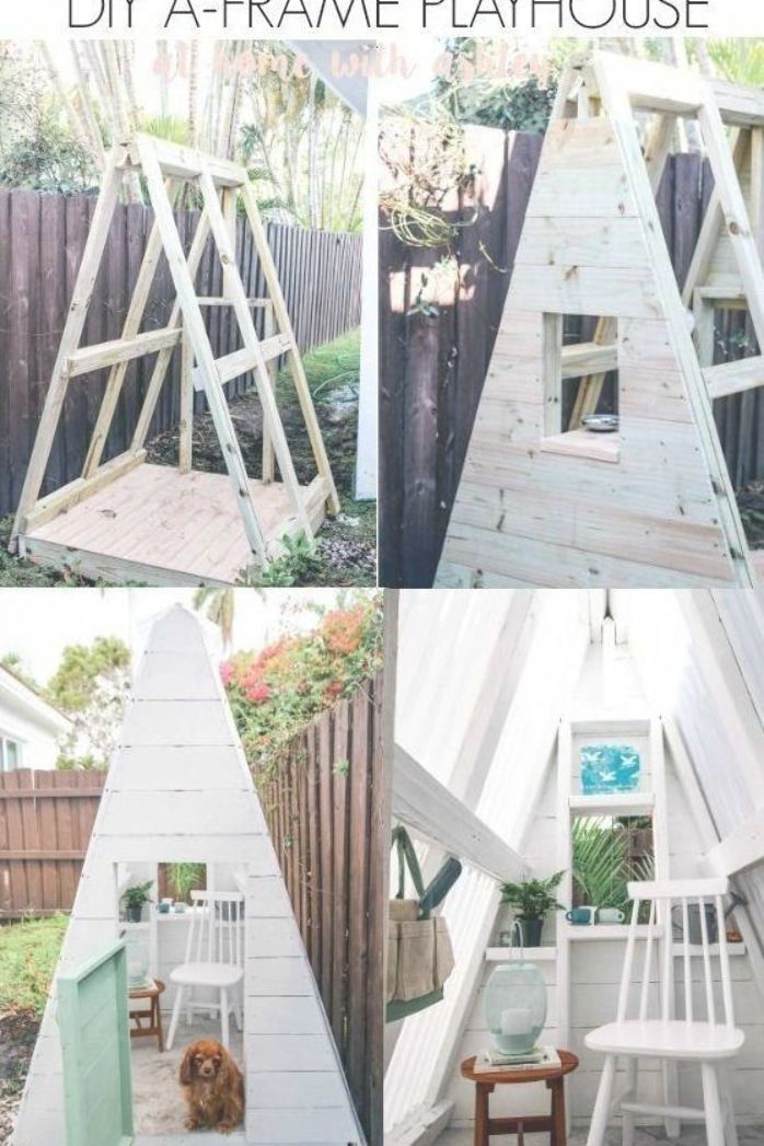 Diy A Frame Play House This Outdoor Playhouse Is Easy And Cheap