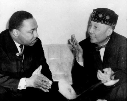 """We must learn to live together as brothers or perish together as fools."" — 1964   Martin Luther King Jr. meets with Nation of Islam leader Elijah Muhammad in Chicago, Feb. 24, 1966. IMAGE (AP Photo)"