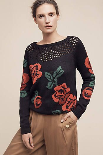 Knitted Rose Sweater