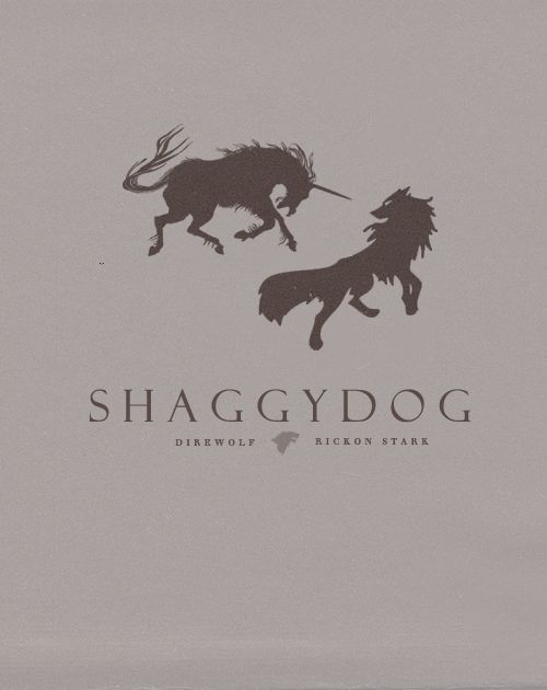 Shaggy Dog ~ House Stark ~ Minimalist Poster by Son of Wolves ~ Game of Thrones Fan Art
