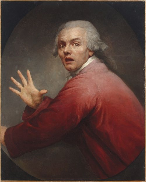 Joseph Ducreux (Nancy 1735-1802 Paris)  Self-Portrait Evoking Surprise Mixed with Terror