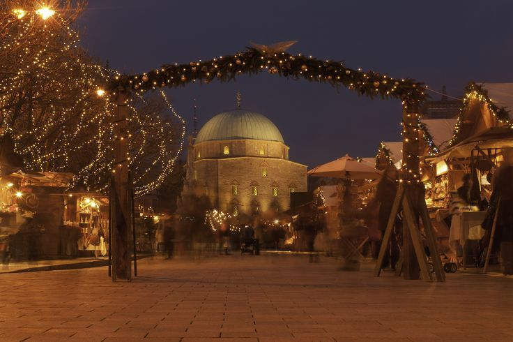 Christmas hustle and bustle in Pécs, Hungary