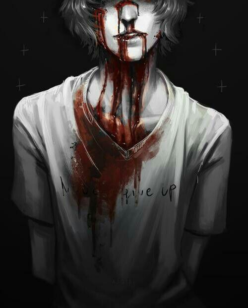.anime guy    blood