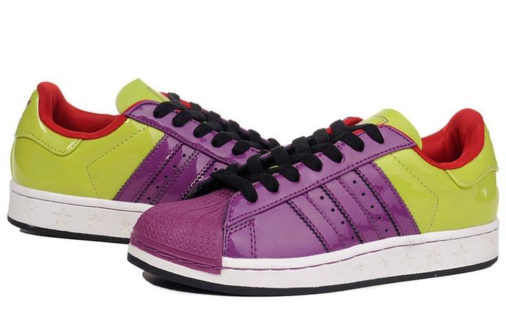 Adidas Superstar grün - violette