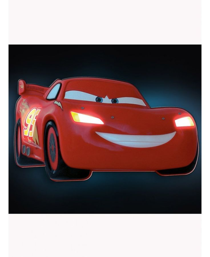 This Disney Cars 3D Wall Light acts not only as a comforting nightlight but as an awesome feature in any child's bedroom. The wall light is shaped just like Lightning McQueen and is easily operated by pressing Lightning McQueen's side window.