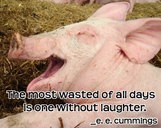 The most wasted of all days is one without laughter. _ e. e. cummings