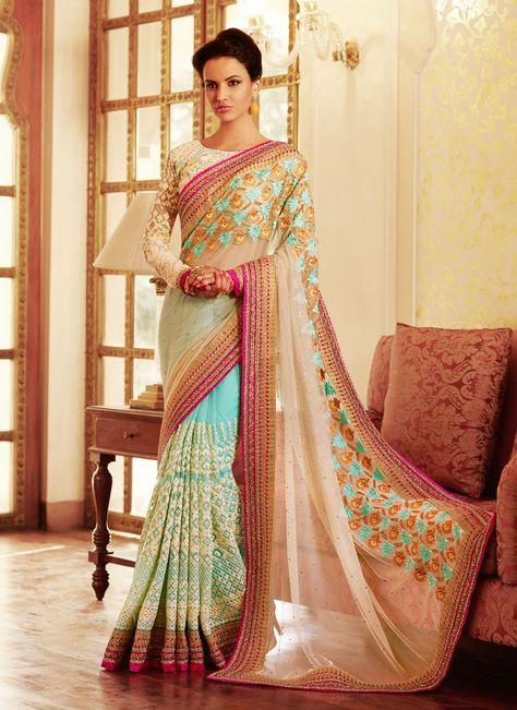 Designer Sarees online shopping in USA UK Canada Buy Surpassing Net Designer Saree