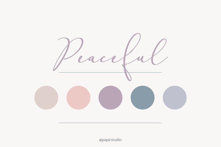 Peaceful color palette // pink, blush, peach, blue, nude, wedding, branding, summer