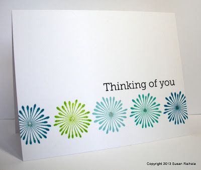 lovely handmade card from Simplicity ... clean and simple ... one layer ... luv the blue colors on white ...