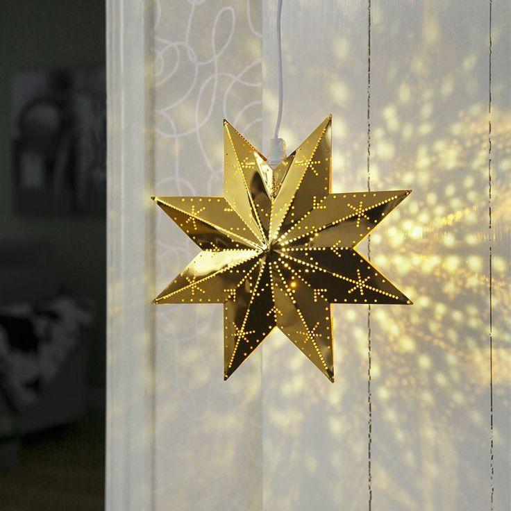 Klassisk mässings adventsstjärna som lyser upp i decembermörkret. Vi rekommenderar LED ljuskällor till julstjärnor.https://buff.ly/2ihpThv?utm_content=buffer1d7d8&utm_medium=social&utm_source=pinterest.com&utm_campaign=buffer