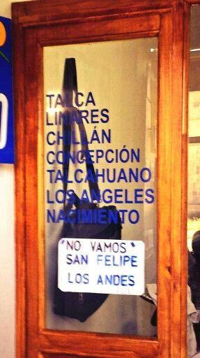 Publicando los destinos a los que NO van #Buses #JustInChile