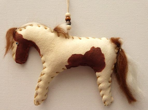Paint horse Native American Indian doll pony primitive folk art handmade country rustic decoration cowboy christmas