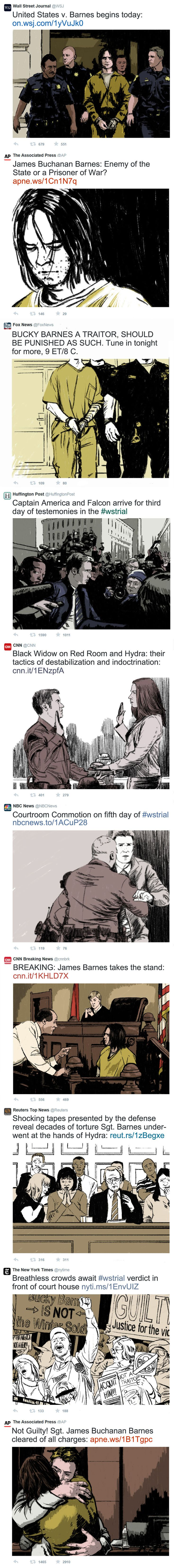 """The Winter Soldier Trial"" || Bucky Barnes, Steve Rogers, Sam Wilson, Natasha Romanoff || by Paperflower86 || #fanart"
