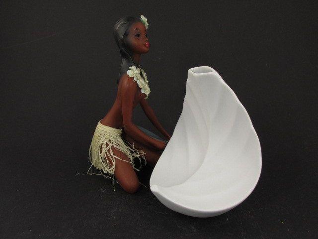 """Vintage Op-Art Bisquit Porzellan Vase / Tirschenreuth / """"Blatt""""   West German Pottery   60er von ShabbRockRepublic auf Etsy"""