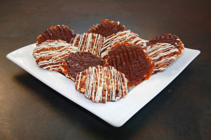 Florentines, Mary Berry, GBBO, Great British Bake Off, chocolate, stem ginger, white chocolate, glace cherries, lattice edges, easy, chopped mixed peel, nuts, store cupboard, Christmas present, Christmas hampers, gifts, golden syrup, ingredients, recipe, how to make