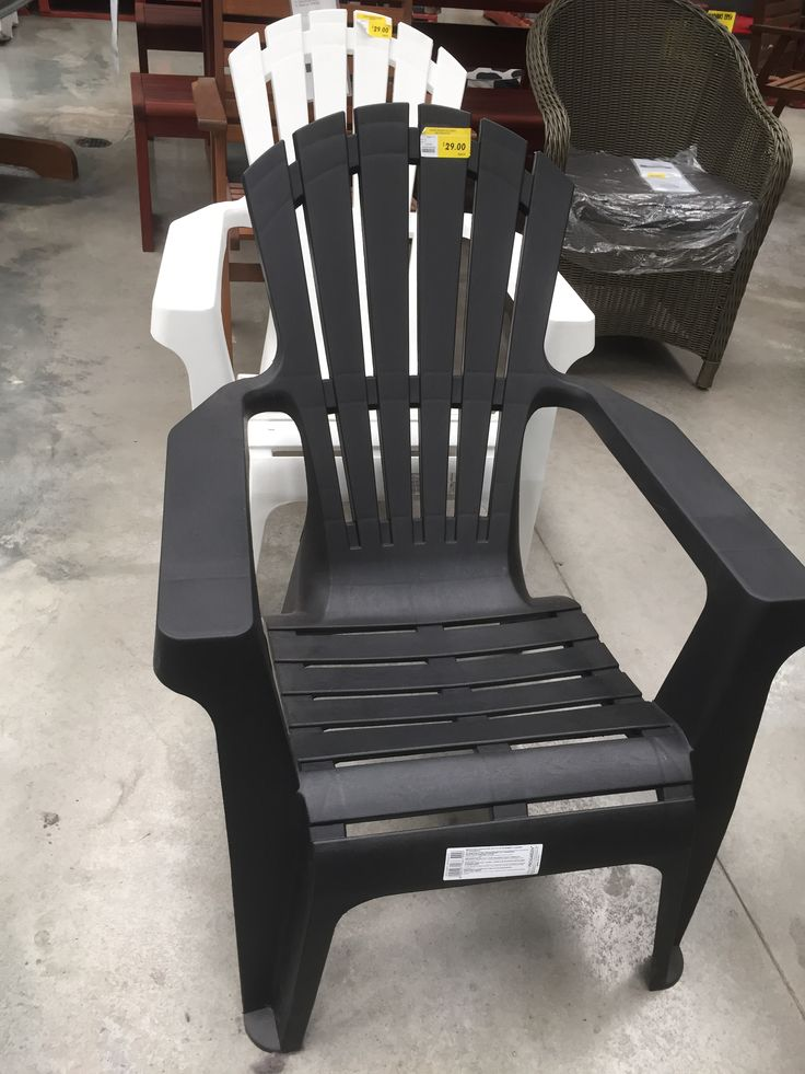 Amazing $29 Bunnings Resin Adirondack Chairs. Black Or White. Baaaargain