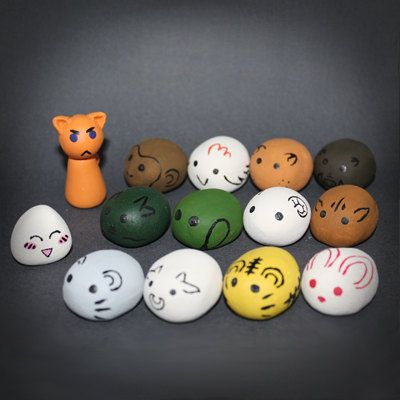 Fruits Basket - Furuba - Zodiac stones, Kyo and Tohru sculptures.