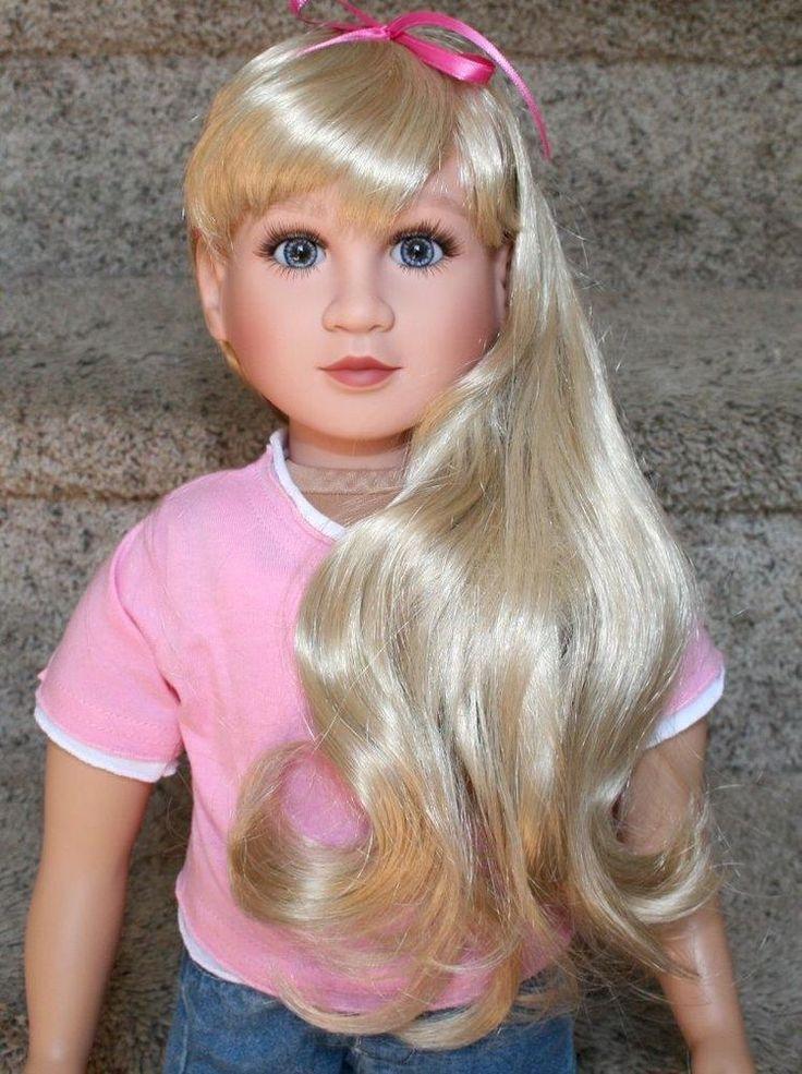 My Twinn Lenora Denim Blue Eyes Vry Long Light Blond Hair