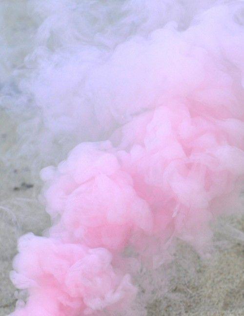 pastel pink lilac smoke
