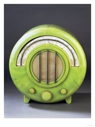 Art Deco Lime Green Bakelite Radio