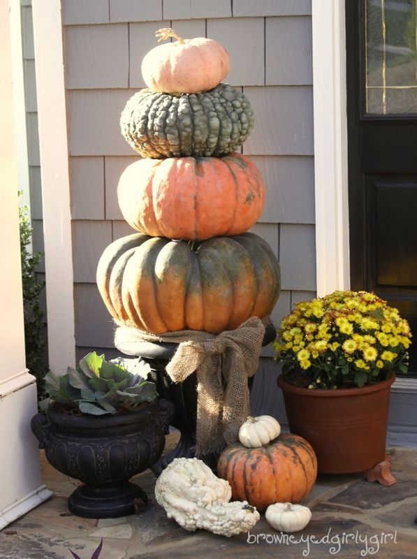 Fall Pumpkin Topiary Ironically This Blog Is Called Brown