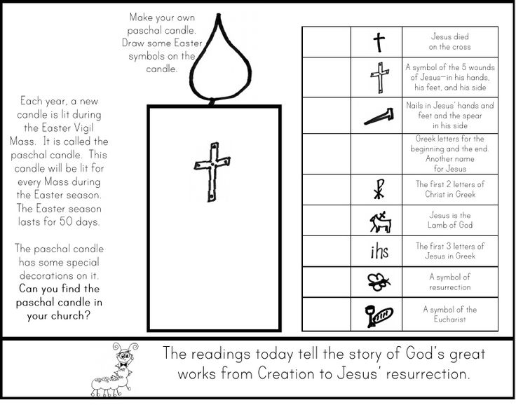 Paschal Candle Paper Make A List Of Other Symbols Of