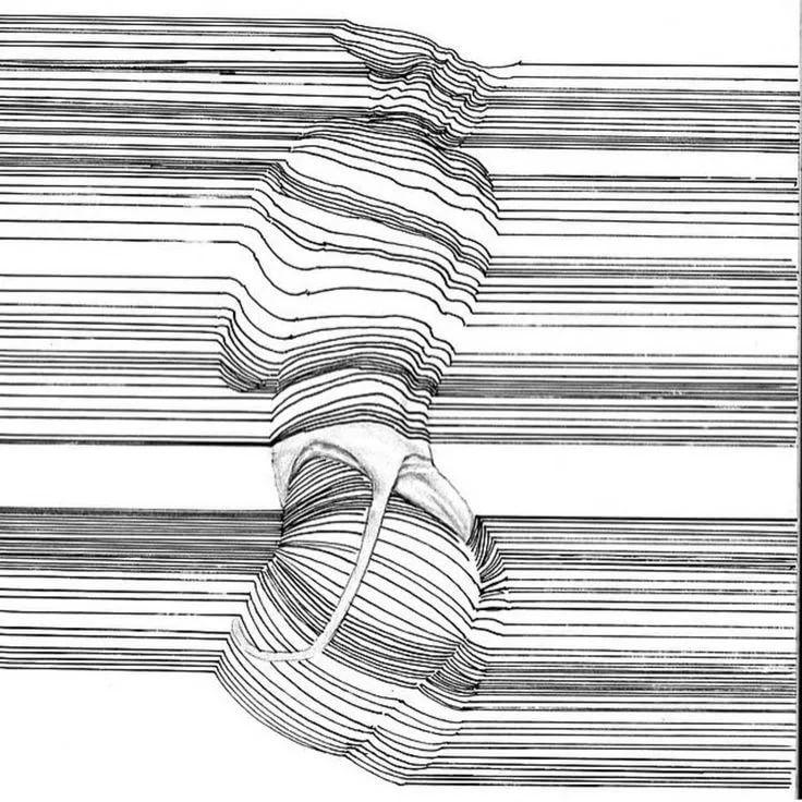 рисунки из линий карандашом толстые и тонкие таким