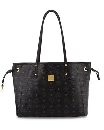 Shopper+Project+Reversible+Tote+Bag+with+Pouch,+Black/Jaguar++by+MCM+at+Neiman+Marcus.