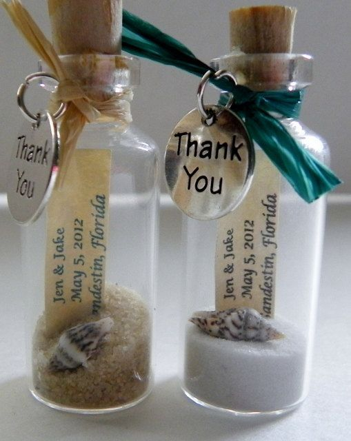 THANK YOU Mini Message Bottle FAVORS with or by WeddingsAway