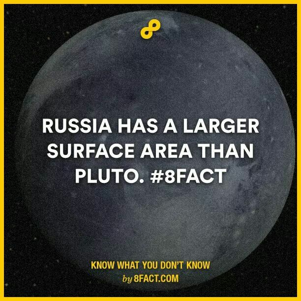 Interesting Fact Russia Vs Pluto Out Of The Box Pinterest - 10 interesting facts about russia